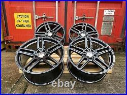AUDI A3 A4 TT VW GOLF CADDY SEAT LEON 18 ALUWERKS TW5 Alloy Wheels Matt Black