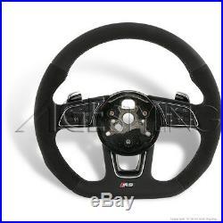 AUDI RS3 RS4 RS5 Quattro S-Tronic Flat Bottom ALCANTARA Steering Wheel 2015-2018