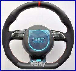 AUDI S Line ALCANTARA A3 S3 RS3 8V A1 S1 8X Q3 RS 8U Flat Bottom Steering wheel
