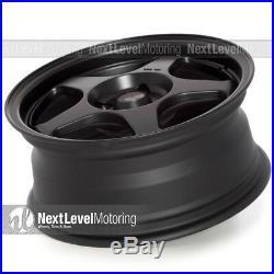 AVID. 1 AV-08 15x6.5 Flat Black 4x100 +35 Wheels (Set of 4) Spoon Style JDM Rims