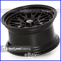AVID. 1 AV-12 15x8 Flat Black 4x100 +25 Wheels (Set of 4) Classic Mesh JDM Rims