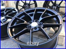 A Set Of 20 Staggered 763m Cs Style Alloy Wheels Matt Black Bmw 3 4 5 6 Series