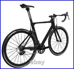 Aero Carbon bicycle Road bike frame 700C Wheel Clincher Race V brake 11s 54cm