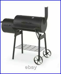 Aldi Smoker BBQ Gardenline Barbeque Grill Barrel CHARCOAL 2 COMPARTMENTS