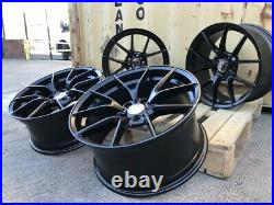 Alloy Wheels 19 Competition 763m Style Staggered SATIN Black BMW 3 4 5 6 Series