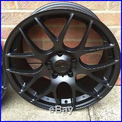 Alloy Wheels 4 x 19 Fox MS007 Matt Black Staggered BMW 3 Series E90 E91 E92 E93