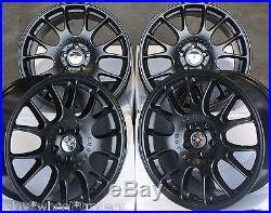 Alloy Wheels X 4 18 Matte Black Dare Ch For Audi A3 A4 A6 A8 Q3 Q5 Tt 06 5x112