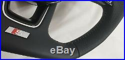 Audi 8W A3 A4 A5 S4 S5 S Line flat bottom steering wheel paddles stitch New