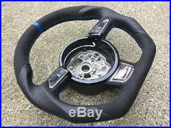 Audi A1 S1 A6 S6 Rs6 A7 S7 Rs7 A8 S8 Custom Made Flat Bottom Steering Wheel