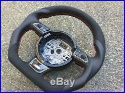 Audi A1 S1 A6 S6 Rs6 A7 S7 Rs7 A8 S8 Dsg Custom Made Flat Bottom Steering Wheel