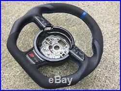Audi A1 S1 A6 S6 Rs6 A7 S7 Rs7 A8 S8 New Custom Made Flat Bottom Steering Wheel