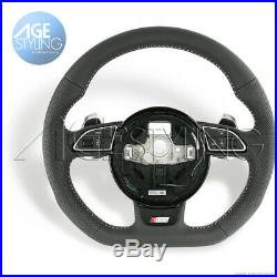 Audi A3 A4 A5 Q3 Q5 Q7 S-Line Flat Bottom Steering Wheel w EXTENDED GEAR PADDLES