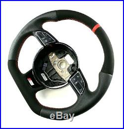 Audi A3 A4 A5 S-line Sline Flat Bottom steering wheel Alcantara + leather
