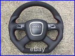 Audi A3 A4 S4 A5 A6 A8 New Custom Made Flat Bottom Steering Wheel