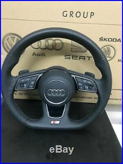 Audi A3 A4 S4 S5 A5 B9 Multi Steering Flat Bottom Wheel Shift Paddles & Airbag