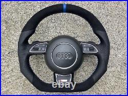 Audi A3 Q3 A4 S4 A5 S5 Rs5 Q5 Qs5 New Custom Made Flat Bottom Steering Wheel
