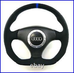 Audi A3 S3 A6 C5 TT 8N0 custom Flat Bottom steering wheel! ALCANTARA SPA