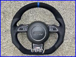 Audi A3 S3 Q3 A4 S4 Rs4 A5 S5 Rs5 Q5 Dsg Custom Made Flat Bottom Steering Wheel