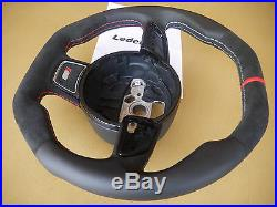 Audi A3 S3 Q3 NONE-paddle custom steering Wheel thick flat top + bottom RS 13-16