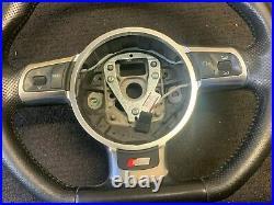 Audi A3 S3 Rs3 Tt Tts 2007-14 Flat Bottom Paddle Shift Steering Wheel 8j0419091h