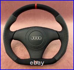 Audi A4 S4 B5 A6 C5 FLAT BOTTOM steering wheel Alcantara + perforated leather