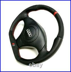 Audi A4 S4 B5 TT 8N0 Custom flat bottom steering wheel Alcantara + leather