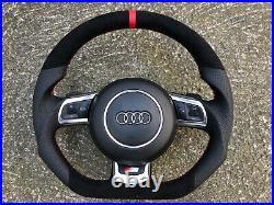 Audi R8 8j0 Tt Tts Rs3 Rs6 C6 Paddle New Custom Made Flat Bottom Steering Wheel
