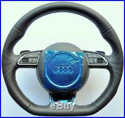 Audi S Line A4 S4 A5 S5 Q5 Q7 A3 A6 A8 TT R8 Flat Bottom steering wheel PADDLES