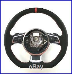 Audi TT 8J A3 8P Flat Bottom steering wheel Alcantara + leather