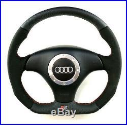 Audi TT 8N0 FLAT BOTTOM steering wheel Alcantara + perforated leather