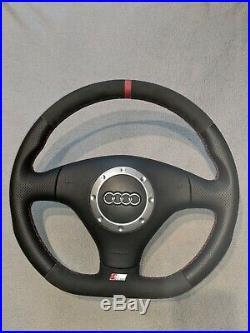 Audi Tt Mk1 S3 A3 Skoda Custom Made Flat Bottom Steering Wheel Alcantara