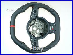 Audi custom steering wheel S4 A1 S1 8X A6 S5 SMALL THICK flat BOTTOM +TOP S line