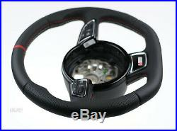Audi custom steering wheel flat bottom thick S line A8 S8 D4 A6 S6 A7 S7 RS6 RS7