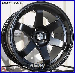Avid. 1 Av-06 18x10.5 Wheel 5x114.3 +22 Matte Black Fits Tiburon Genesis Coupe