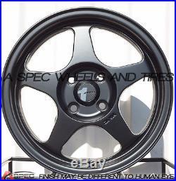 Avid. 1 Av-08 15x6.5 Wheels 4x100 +35 Matte Black Rim (set Of 4)