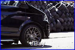 BK170 2754020 XL Vw T5 T6 Camper Van Satin Matt Black Alloy Wheels 20 Van 5x120