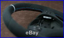 BMW CUSTOM steering wheel + suede trim flat bottom E90 E91 E92 E93 E81 E87 E88