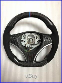 BMW Carbon Fibre E90 E92 E93 M3 DCT DKG FLAT BOTTOM Thicker Steering WHEEL UK