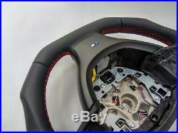 BMW F07 F10 F01 NAPPA ERGONOMIC INLAYS HEATED STEERING WHEEL FLAT b. Non sport M