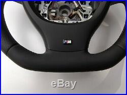 BMW F07 F10 F01 NAPPA LEATHER ERGONOMIC INLAYS STEERING WHEEL FLAT non sport M