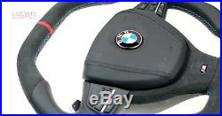 BMW F10 F07 F12 F01 M5 M6 M customized steering wheel flat bottom top Alcantara