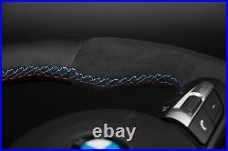 BMW F30 F31 F20 X4 X5 X6 M Flat Bottom Steering Wheel Alcantara Nappa Black Ring