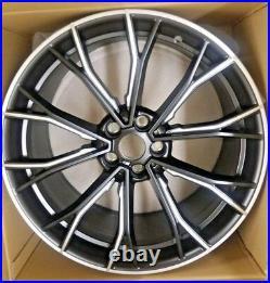 BMW G30 G31 G11 G12 OEM 669M 20 Matt Black M Five Double Spoke Bi-Color Wheels