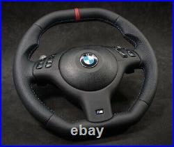 BMW Genuine Leather Custom SMG E46 M3 ZCP Steering Wheel INDIVIDUAL flat Bottom