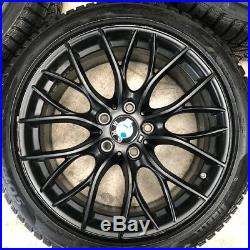 BMW M Performance 18 405M Jet Black Matte Wheels Pirelli Sottozero 3 Winter Tyre