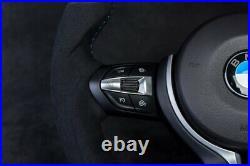 BMW M Performance customized flat bottom steering wheel M3 M4 F80 F82 X5M X6M