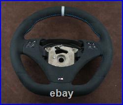 BMW OEM Alcantara custom steering wheel flat bottom E90 E91 E92 E93 E81 E87 E88