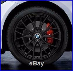 BMW OEM F30 F31 F32 3 & 4 Series 405 18 Wheel Set NEW M Double Spoke Matt Black