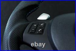 BMW Steering Wheel custom flat bottom E90 E91 E92 E93 E81 E88 335i PADDLE SHIFT