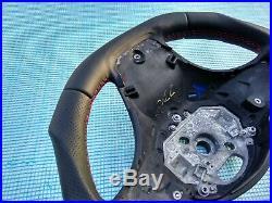 BMW X3 E83 X5 E53 new NAPPA ERGONOMIC INLAYS M SPORT SW FLAT BOTTOM red mark